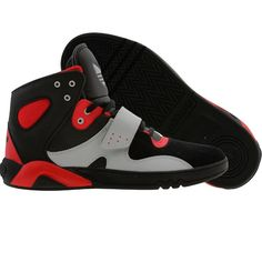 Adidas Roundhouse Mid in black, red, and grey