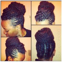 #naturalhair #updo braided bun