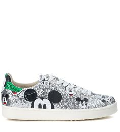 M.O.A. MASTER OF ARTS   M.O.A. master of arts Sneaker Moa Micky Mouse In Glitter Argento #Shoes #M.O.A. MASTER OF ARTS