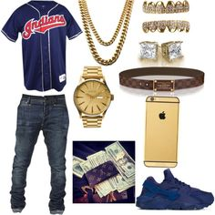 BOI by joliah-barnes-white on Polyvore featuring polyvore, Louis Vuitton, Goldgenie, NIKE, Nixon, men's fashion, menswear and clothing