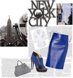 """New York City"" by christinekolek on Polyvore"