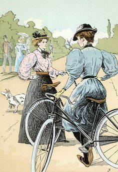 François Courboin, 'Bicycling: The Ladies of the Wheel', 1896