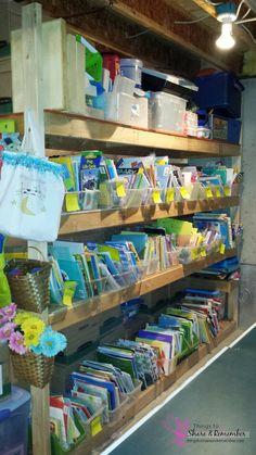 library storage - child care preschool storage -Organizing all those Supplies #MGTblogger