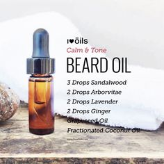 Yummy smelling and skin soothing beard oil. Can also be used as an after shave oil.