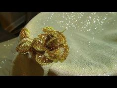"""""""Sequins""""- The Traditional Art Of Handcrafted Embroidery. Embroidery Monogram, Simple Embroidery, Gold Embroidery, Embroidery Thread, Embroidery Designs, Beaded Flowers, Embroidered Flowers, Zardozi Embroidery, Embroidery Stitches Tutorial"""