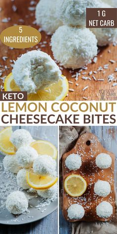 Quick and easy keto coconut cheesecake bites are made with just 5 ingredients. Each bite has only net carb! Quick and easy keto coconut cheesecake bites are made with just 5 ingredients. Each bite has only net carb! Ketogenic Recipes, Low Carb Recipes, Real Food Recipes, Ketogenic Diet, Coconut Cheesecake, Cheesecake Bites, Keto Diet Breakfast, Breakfast Recipes, Low Carb Deserts