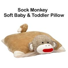 Baby & Toddler Sock Monkey Pillow