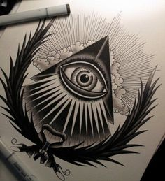 If you are all about mysterious secrets of the past Illuminati tattoo is just perfect for you. Here are the most impressive men Illuminati tattoo designs for your inspiration. Future Tattoos, New Tattoos, Tribal Tattoos, Tattoo Sketches, Tattoo Drawings, Tatouage Hamsa, Ojo Tattoo, Illuminati Tattoo, Tatoo