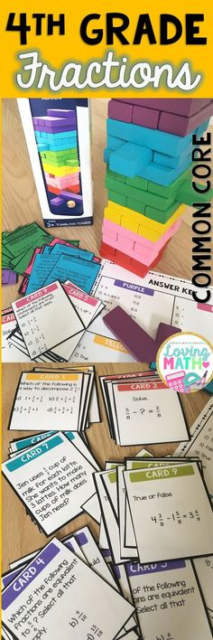 4th Grade Fractions Common Core. Great game to practice.