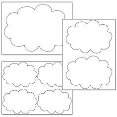 Printable Cloud Card Template #sprinklebabyshower | Cards ...