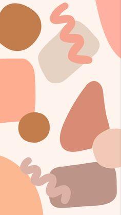 Peach Neutral Abstract Shape wallpaper