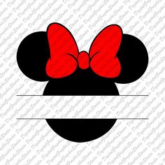 See related image detail Minnie Mouse Cricut Ideas, Minnie Mouse Shirts, Mickey Minnie Mouse, Mickey Ears, Minnie Mouse Clipart, Mickey Mouse Images, Mickey Mouse Tattoos, Minnie Mouse Silhouette, Mouse Logo
