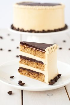 A modern take on a French classic, this decadent Opera cake is rich, chocolatey, and packed with espresso flavour. Best Cake for holiday Food Cakes, Cupcake Cakes, Baking Recipes, Cake Recipes, Dessert Recipes, Kitchen Recipes, Just Desserts, Delicious Desserts, Snickerdoodle Cake