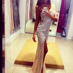 dress, fashion, and glitter diamond diamonds embellish embellished embellishments mesh modern prom homecoming goals school event dance dresses style classy tan model models modeling goals tumblr girl girls women woman lovely beautiful gown gowns straps sexy slim fit cut