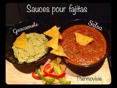 Sauce Salsa et guacamole pour fajitas et tortilla (chips) Sauce Pour Chips, My Favorite Food, Favorite Recipes, Mexican Food Recipes, Ethnic Recipes, Tortilla Chips, Tex Mex, Fajitas, Guacamole