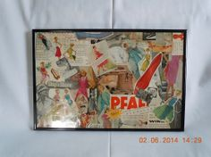 Collage using vintage fashion art work. Unique one of a kind and perfect for the person who loves fashion. Sewing, 18 x 12  framed. 1950s