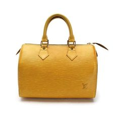 Louis Vuitton Speedy 25 Epi Handle bags Yellow Leather M43019