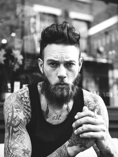 beard & tattoos