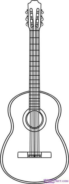 Acoustic Guitar Pattern | free printable line patterns | Pinterest ...