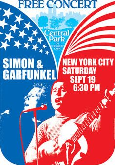 SIMON and GARFUNKEL 19 September 1981 New York by tarlotoys, €10.00