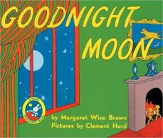 Goodnight Moon. This book is about a bunny who is laying in bed, and before he can go to sleep he must tell all the familiar things in his room goodnight. For example, his socks, the clock, the mittens, and even his kittens.