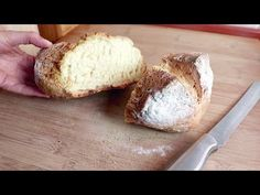 Bread immediately ready, without leavening # 205 Cooking Videos, Bread Baking, Bread Recipes, Ice Cream, Pudding, Homemade, Cake, Sweet, Pizza