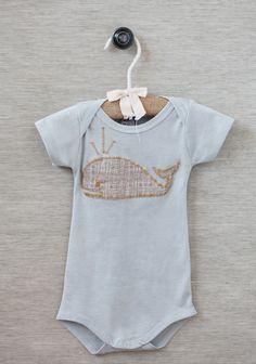 Whale Friend Applique Onesie | Modern Vintage Clothing | Modern Vintage Children
