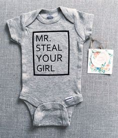 Steal Your Girl Onesie® Ladies I Have Arrived Onesie® Baby Boys, Carters Baby, Toddler Boys, Boy Onsies, Cute Onesies, Custom Baby Onesies, Cute Baby Clothes, Babies Clothes, Babies Stuff