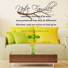 Aime danse chante vis wall stickers canada wall decals for Autocollant mural walmart