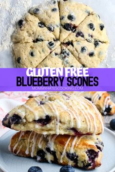 Scones Sans Gluten, Dairy Free Scones, Dessert Sans Gluten, Bon Dessert, Gluten Free Blueberry Muffins, Blueberry Recipes Sugar Free, Healthy Blueberry Scones, Gluten Free Recipes For Breakfast, Gluten Free Sweets