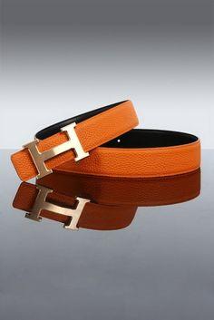 c070cf81fb4 Hermes orange and gold belt