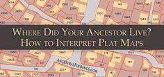 Finding your ancestors' homestead, or at least where it used to be, is a really exciting part of genealogy. If you know where they lived, you can go visit the place in person and see things from their perspective... http://www.ancestralfindings.com/where-did-your-ancestor-live-how-to-interpret-plat-maps/