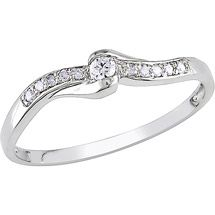 Walmart: Miabella Diamond Accent 10 Carat White Gold Bypass Promise Ring