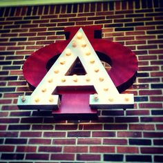 an AOII sign like this would be so dope! Alpha Phi Letters, Alpha Phi Crafts, Sorority Letters, Sorority Gifts, Butler University, Women Lawyer, Big Dipper, Indianapolis Indiana, Ivy Leaf
