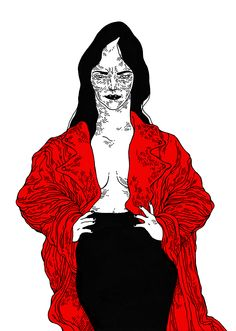 - Red Coat - ink, bristol board, Photoshop