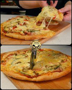Beef Recipes, Vegan Recipes, Cooking Recipes, No Cook Desserts, Dessert Recipes, Pita Pizzas, Food Tasting, Vegetable Pizza, Food And Drink
