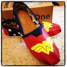 Wonder Woman TOMS...I want these!