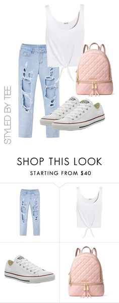 """Untitled #114"" by toniannfratianni on Polyvore featuring Splendid, Converse and MICHAEL Michael Kors"