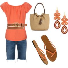 Casual coral, created by lanette14