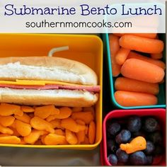 SUBMARINE BENTO LUNCH IDEA