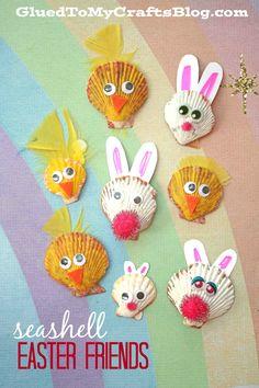 Seashell Easter Friends - Spring Themed Kid Craft Idea