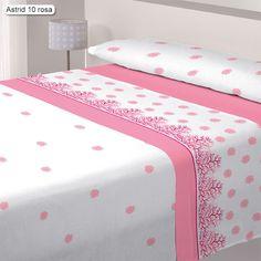 Juego de Sabanas Coralina Astrid Cañete, muy calentitas, ideales para los inviernos más frios, con un elegantísimo diseño a base de motivos invernales, disponible en tres colores rosa, azul y pistacho.