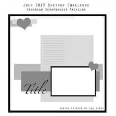 Layout sketch from Canadian Scrapbooker at Seabrook Designs