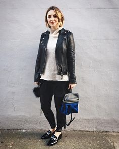 A touch of blue in yesterday's outfit by estee_lalonde