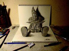 3D Drawing - Wanderer by NAGAIHIDEYUKI.deviantart.com on @deviantART
