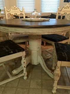chalk painted table and chairs pam hancock designs