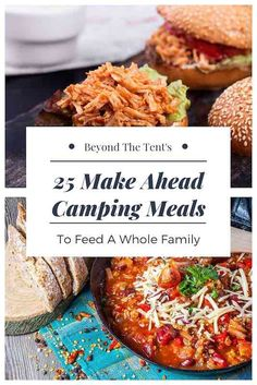 Check out these 25 make ahead camping meals for breakfast, lunch, snacks, dinner and desserts that will keep your family fed on your next camping trip. meals easy make ahead 25 Make Ahead Camping Meals to Feed a Whole Family - Beyond The Tent Camping Food Make Ahead, Camping Lunches, Make Ahead Meals, Go Camping, Camping Hacks, Outdoor Camping, Family Camping, Camping Food Healthy, Camping Cooking