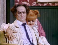 George Hearn and Angela Lansbury in Sweeney Todd