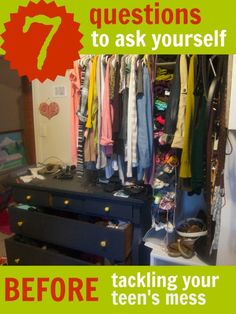 This sorta Old Life 7 questions to ask yourself before tackling your teens mess 580x773 custom 7 questions to ask BEFORE organizing your tee...