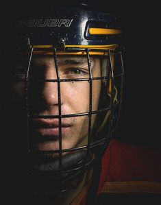 Creative Sports Photography | Barrie Colts Hockey Portraits #Sports #Strobist | Vaughn Barry Photography in Barrie, Ontario